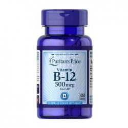 Vitamin B12 500mcg Puritan's Pride 100 viên - Viên uống bổ sung Vitamin B12