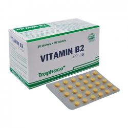 Traphaco Vitamin B2 2mg, Hộp 180 viên