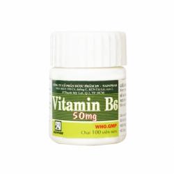 Vitamin B6 50mg Nadyphar, Chai 100 viên