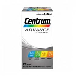 Vitamin dành cho người dưới 50 tuổi Centrum Advance For Adults, Hộp 100 viên
