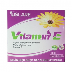Vitamin E UScare, Hộp 100 viên