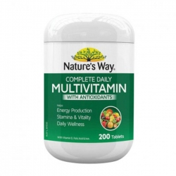 Vitamin Nature's Way Complete Daily Multivitamin Úc, Lọ 200 Viên