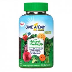 Vitamin từ rau củ quả One A Day Kids Nature's Medley Gummies 110 viên