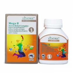 Vitatree Mega B Stress Relief Complex 60 viên - Viên uống bổ sung vitamin B