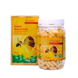 Tpbvsk Sữa ong chúa Vitatree Super Royal Jelly 1600mg, Chai 365 viên