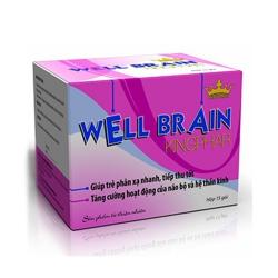 Well Brain Kingphar giúp tăng phản xạ não bộ cho trẻ em, Hộp 15 gói