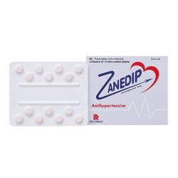 Thuốc tim mạch Zanedip 10mg, Hộp 28 viên