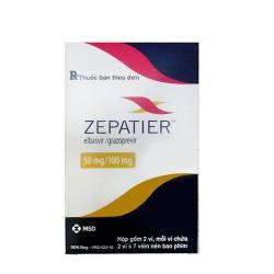 Thuốc Zepatier 50mg/100mg, Hộp 28 viên