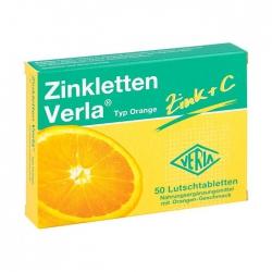 Zinkletten Verla Zinc + C Typ Orange 2 vỉ x 25 viên - Viên ngậm bổ sung Kẽm và Vitamin C