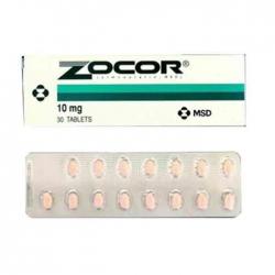 Thuốc tim mạch Zocor 10mg, Hộp 30 viên