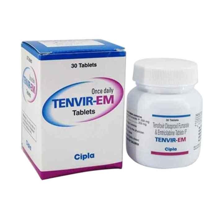 Thuốc Cipla Tenvir EM 200mg/300mg, Chai 30 viên