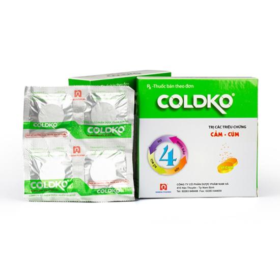 Thuốc Coldko Nam hà, Hộp 16 viên