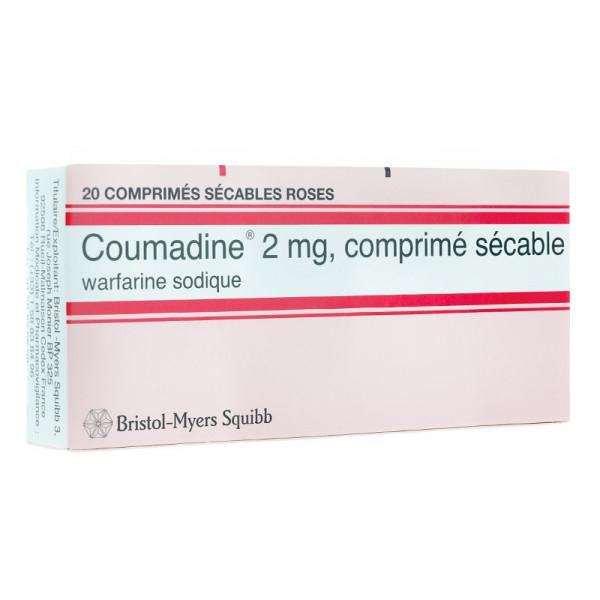 Thuốc Coumadine 2 mg, Hộp 2 Vỉ x 10 Viên