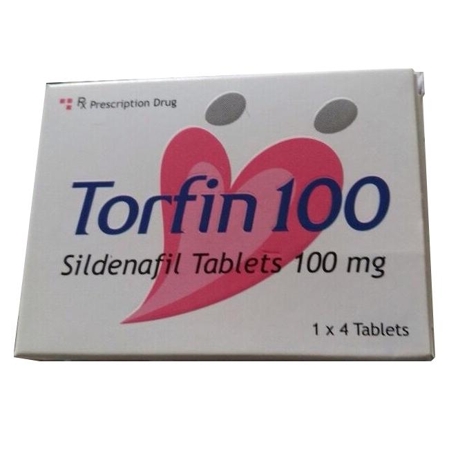 Thuốc cường dương Torfin 100mg, Hộp 4 viên