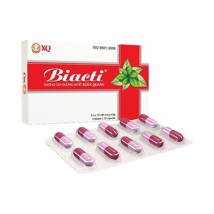 Thuốc điều kinh, bổ huyết Biacti Xuân Quang, Hộp 20 viên