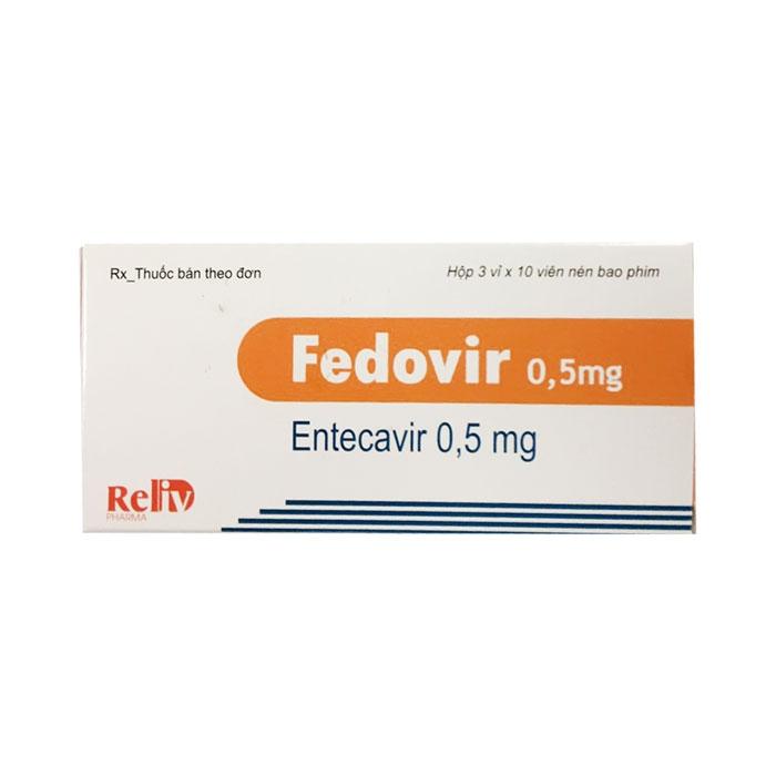 Thuốc điều trị viêm gan B Reliv Fedovir 0.5mg, Hộp 30 viên