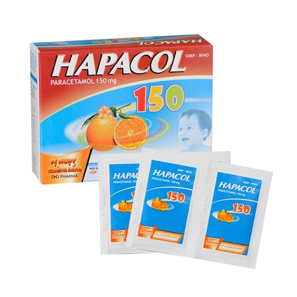 Thuốc Hapacol 150 DHG | Hộp 24 gói x 1,5 g