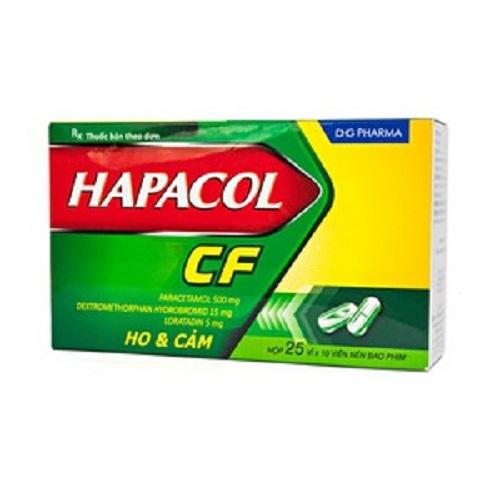 Thuốc Hapacol CF DHG, Hộp 250 viên