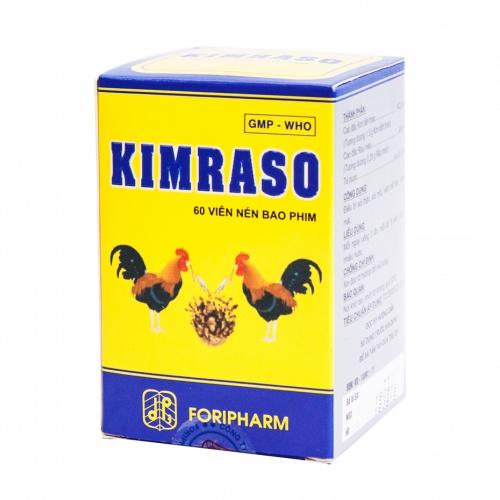 Thuốc KIMRASO điều trị sỏi thận, sỏi mật, Chai 60 viên
