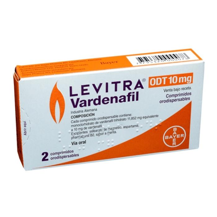Thuốc Levitra Odt 10mg, Hộp 2 viên