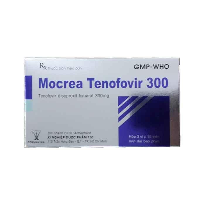 Thuốc Mocrea Tenofovir 300mg, Hộp 30 viên