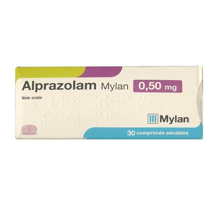 Thuốc ngủ Mylan Alprazolam 0.5mg, Hộp 30 viên  # Xanax