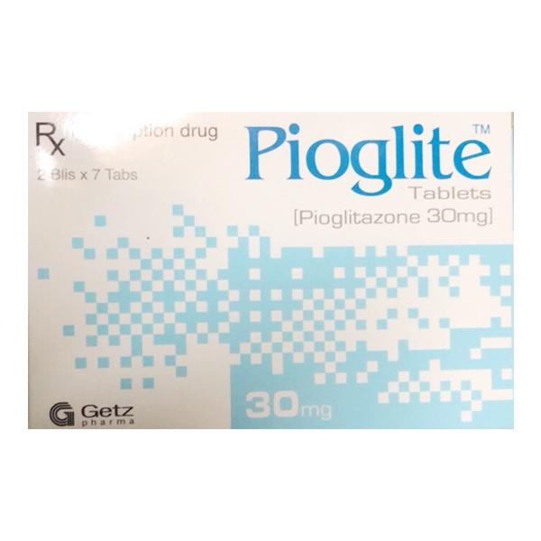 Thuốc Pioglite 30mg, Hộp 2 vỉ x 7 viên