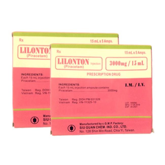 Thuốc tiêm Lilonton 3000mg, Hộp 05 ống