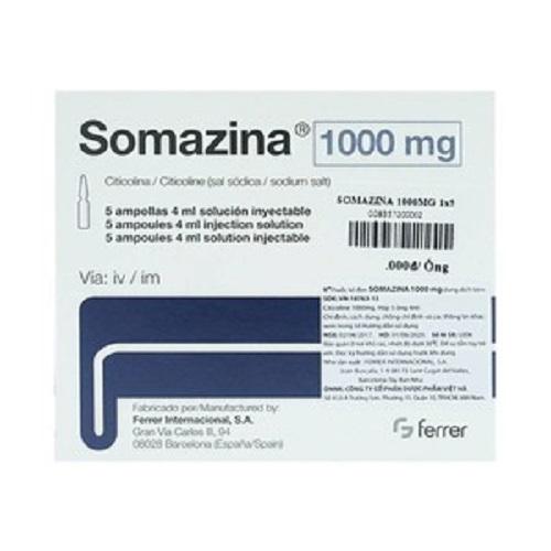 Thuốc tiêm Somazina 1000mg Inj, Hộp 5 ống