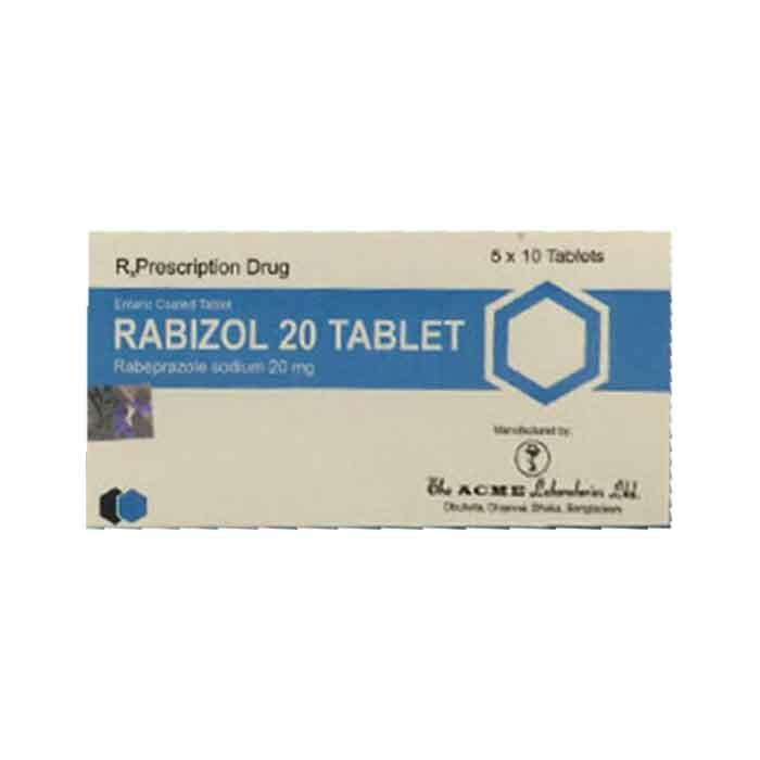Thuốc tiêu hóa Rabizol 20mg, Hộp 50 viên