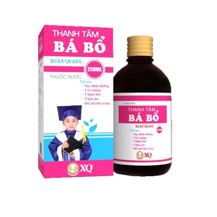 Thuốc trị suy dinh dưỡng Thanh Tâm Bá Bổ Xuân Quang, Chai 250ml