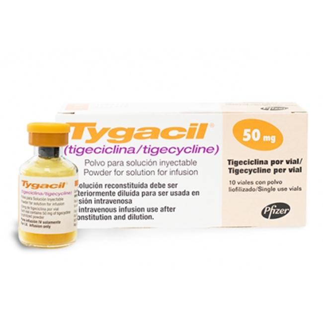 Thuốc TYGACIL IV 50MG, Hộp 10 lọ