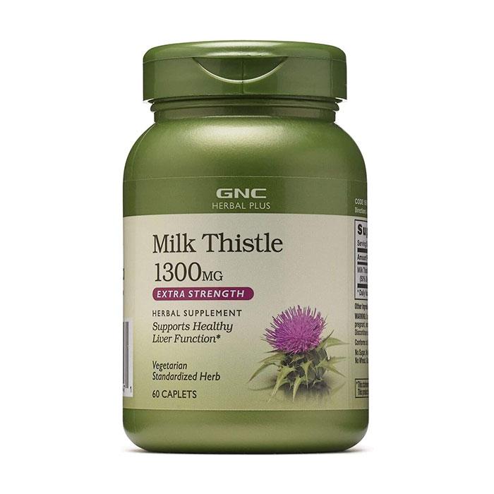 Tpbvsk bổ gan GNC Milk Thistle 1300mg, Chai 60 viên