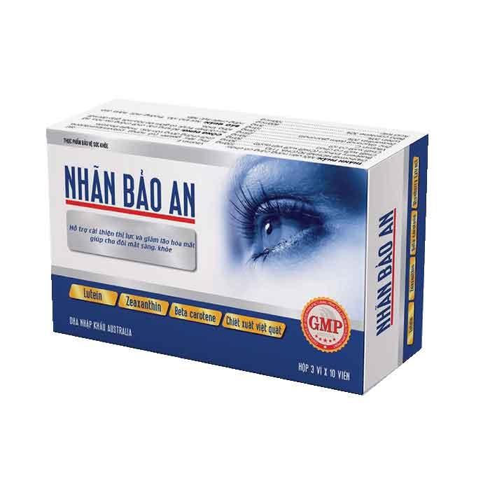 Tpbvsk giúp đôi mắt sáng khỏe Nhãn Bảo An, Hộp 30 viên