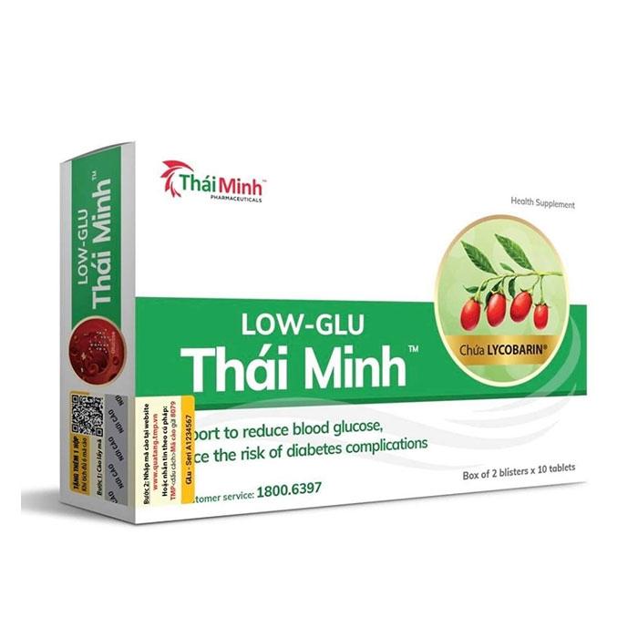 Tpbvsk Low Glu Thái Minh giúp giảm đường huyết, Hộp 20 viên