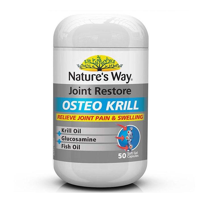 Tpbvsk Nature's Way Joint Restore Osteo Krill, Chai 50 viên