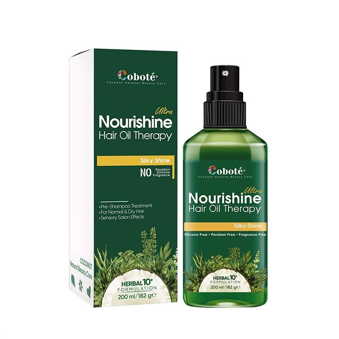 Dầu ủ tóc trước gội Coboté Ultra Nourishine Hair Oil Therapy, Chai 200ml