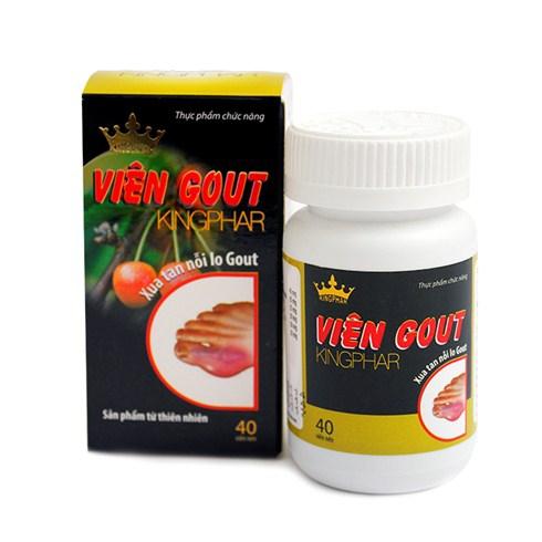 Viên Gout Kingphar giúp tăng cường đào thải Acid Uric, Hộp 40 viên