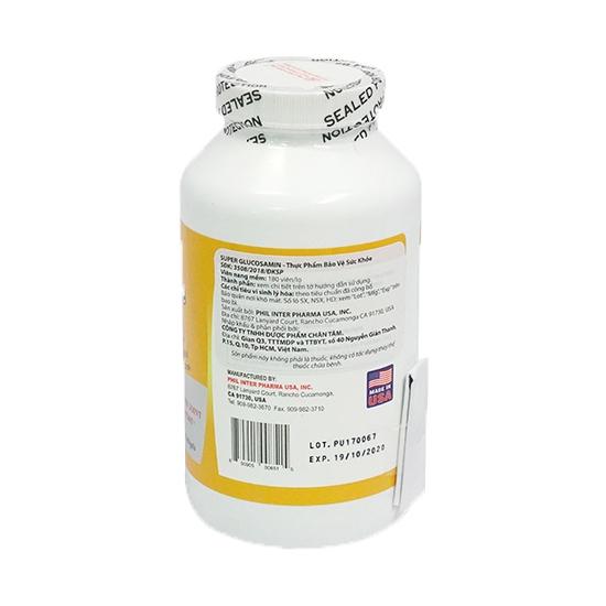 Viên uống chăm sóc xương khớp SUPER GLUCOSAMINE, 180 viên