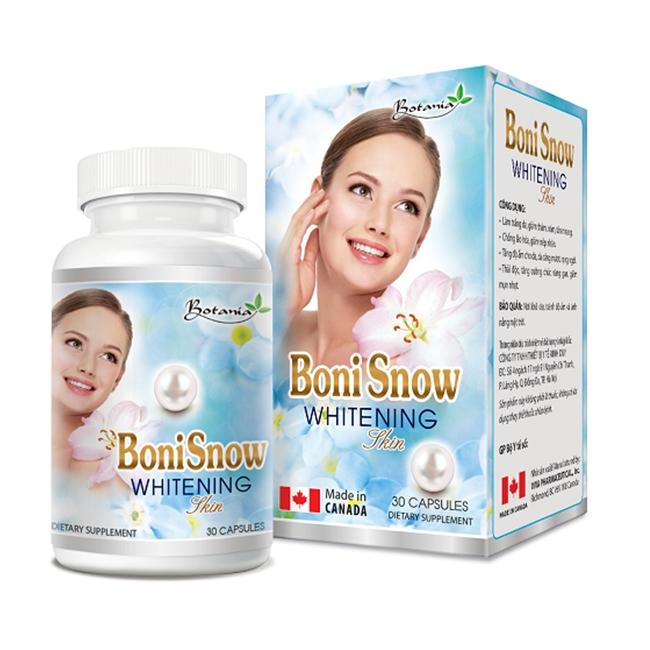 Thực phẩm bảo vệ sức khỏe Botania  BoniSnow Whitening Skin, Hộp 30 viên