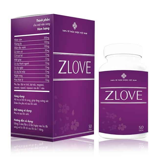 Viên uống ZLOVE tăng cường sức khỏe cho phụ nữ sau sinh, 50 viên