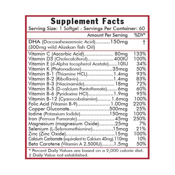 Viên vitamin tổng hợp cho bà bầu Vitamins For Life Prenatal One Hộp 30 viên