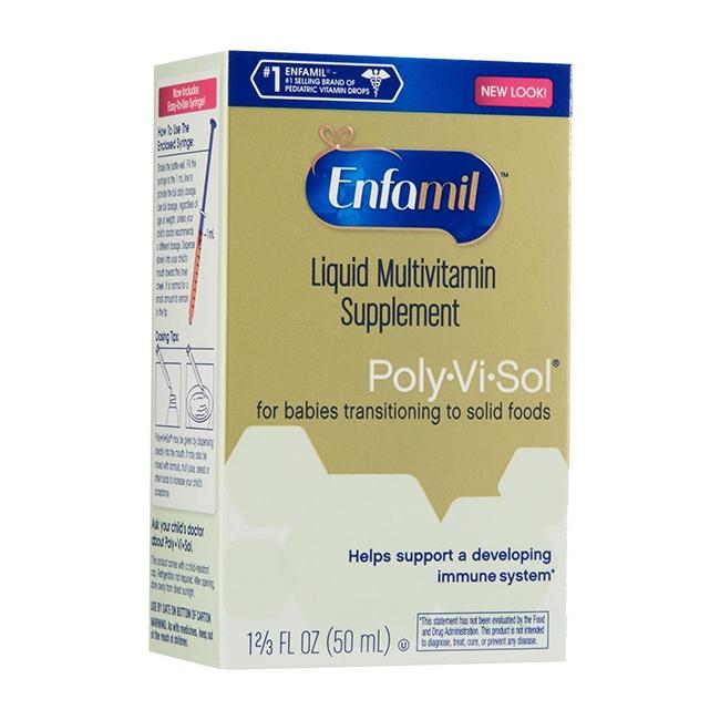 Vitamin Enfamil Poly Vi Sol 50ml bổ sung vitamin và khoáng chất