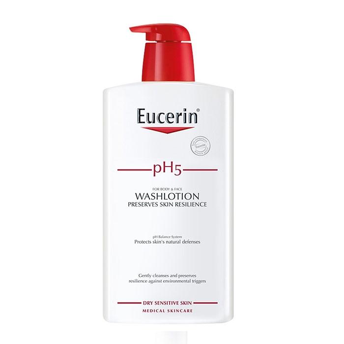 Sữa tắm cho da nhạy cảm Eucerin pH5 WashLotion 1l