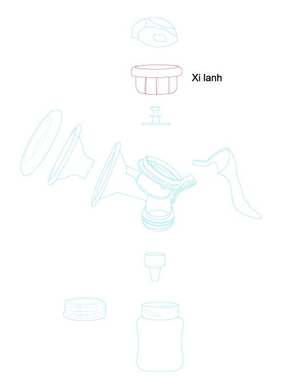 Xi lanh hút sữa cơ Sanity AP-154AM