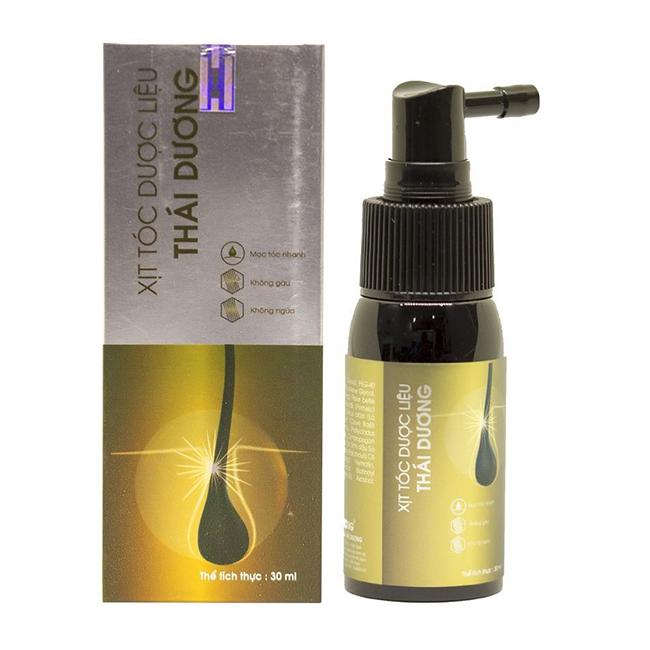 Xịt tóc dược liệu Thái Dương - Lọ 30 ml